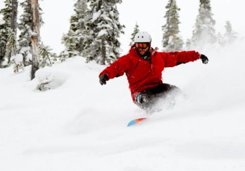Snowboarding Kicking Horse