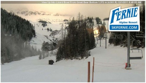 Fernie webcam 1st Nov 2011