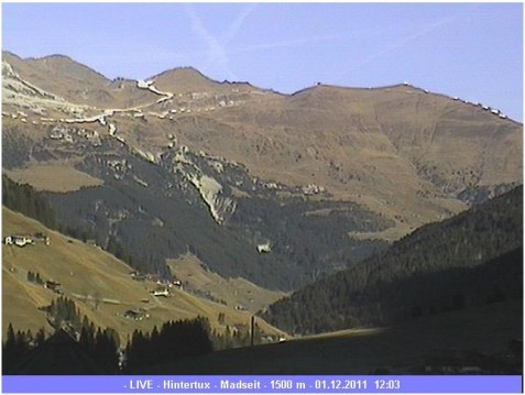 Hintertux webcam 1st Dec 2011