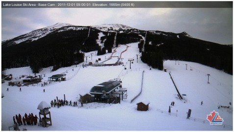 Lake Louise webcam 1st Nov 2011