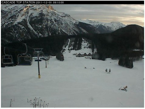 Mount Norquay webcam 1st Nov 2011