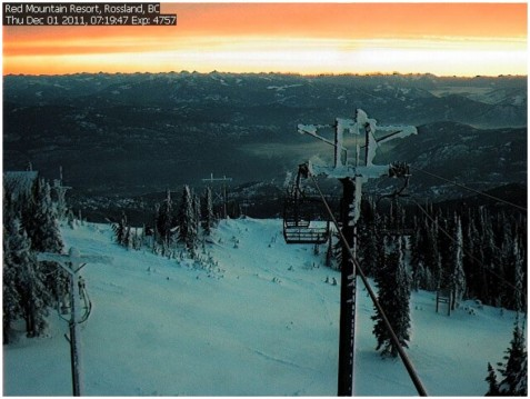 Red Mountain webcam 1st Nov 2011