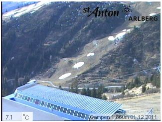 St Anton webcam 1st Dec 2011