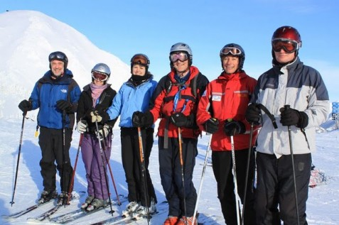 Ski instructor course group