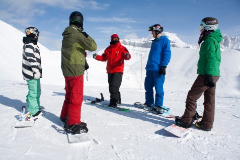 Snowboard instructor group