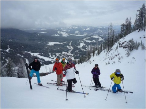 Red Mountain skiers