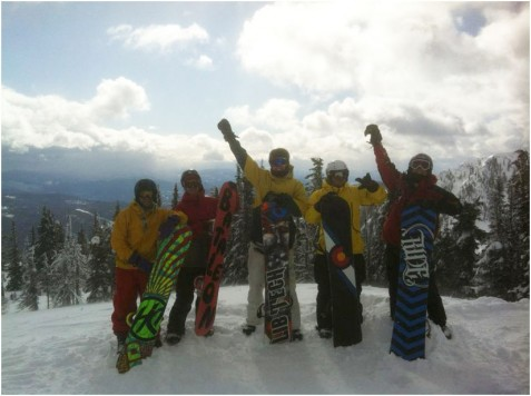 Red Mountain snowboarders