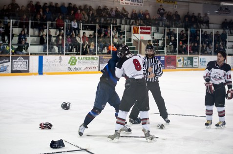 Hockey fight in Fernie