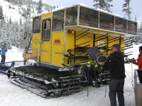 Cat skiing cab
