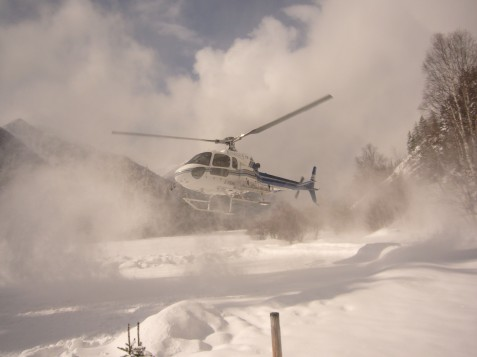 Heli to Boulder Hut