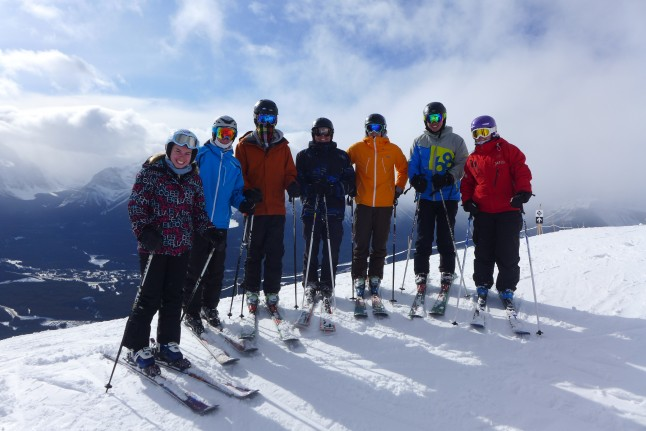 A Skiing Group in Banff